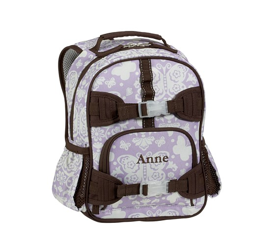 Mackenzie Lavender Damask Mini Backpack