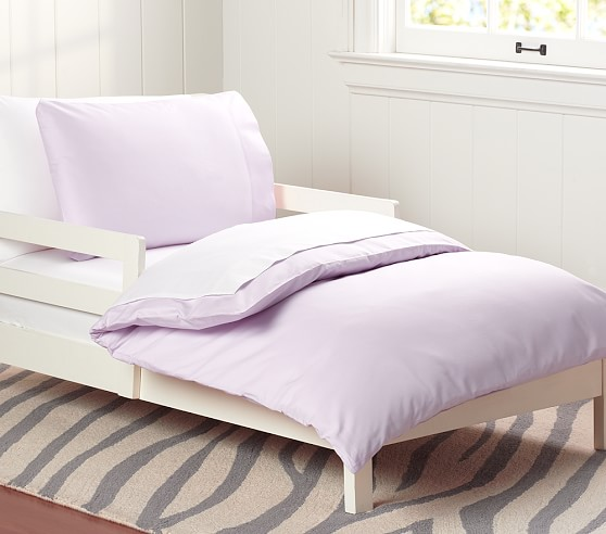 Organic Cotton Toddler Duvet Cover, Lavender