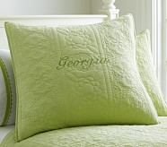 Whitney Euro Quilted Sham, Green
