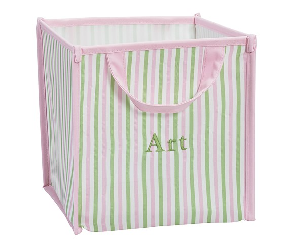 Collapsible Storage, Pink Stripe