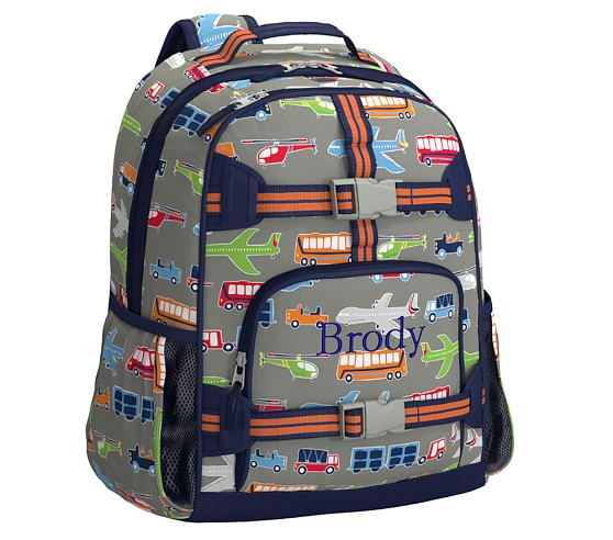 Mackenzie Brody Transportation Backpacks Pottery Barn Kids