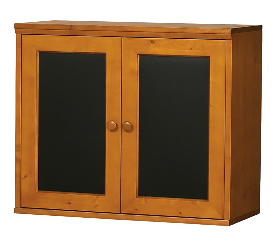 Cameron Creativity Storage System Cabinet with Chalkboard Doors, Sun Valley Honey