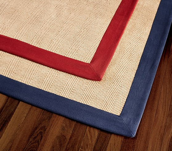 Blue Chenille Jute Rug Swatch