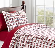 Fire Truck Flannel Duvet Cover, Twin