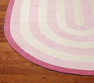 Capel Spiral Oval Rug 9x12' Light Pink and Bright Pink