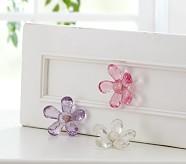 Flower Knobs, Set of 2, Pink