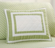 Harper Small Quilted Sham, Green