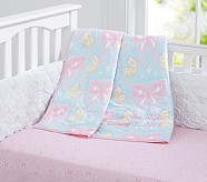 Zoey Nursery Bedding Set: Toddler Quilt, Crib Skirt & Crib Fitted Sheet
