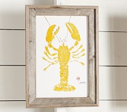 Yellow Lobster Art