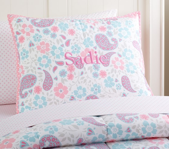 Loft Paisley Standard Quilted Sham, Pink