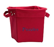 Medium Canvas Bucket, Red