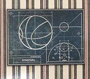 Sports Blueprint Art, Basketball