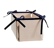 Navy Linen Canvas Nursery Storage, Changing Table Storage