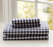 Buffalo Check Flannel Standard Pillowcase, Navy