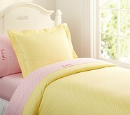 Mini Dot Duvet Cover, Twin, Yellow