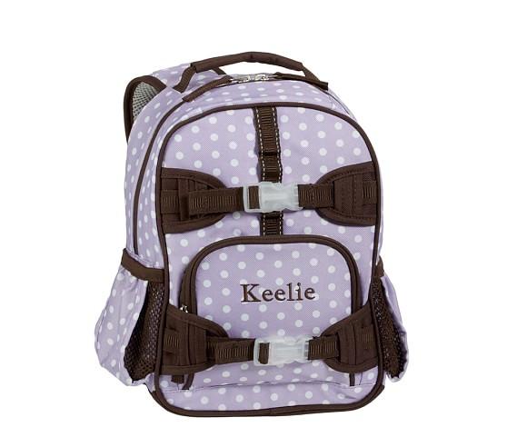 Mackenzie Lavender Dot Mini Backpack