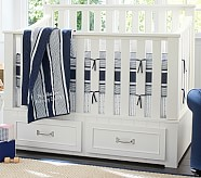 Jackson Nursery Quilt Bedding Set: Toddler Quilt, Crib Skirt & Crib Fitted Sheet, Gray