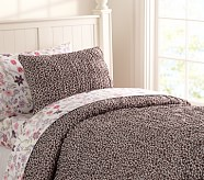 Jacqueline Duvet Cover, Twin, Chocolate