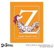 Dr. Seuss™ Alphabet Prints, Letter Z, Orange, Zizzer