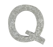 Galvanized Wall Letter, Q