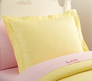 Mini Dot Standard Sham, Yellow