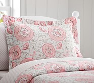 Casey Suzanni Standard Sham, Pink/Gray
