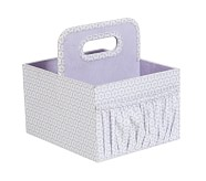 Canvas Diaper Caddy, Lavender Geo