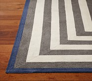 Capel Spiral Rectangle Rug 5x8' Gray and Navy