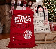 Special Delivery Santa Bag, Ivory