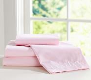 Chambray Pillowcase, Standard, Pink