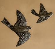 Metal Birds, Set of 2