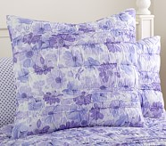 Lillian Floral Euro Quilted Sham, Lavender
