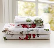 Dear Santa Flannel Sheet Set, Twin