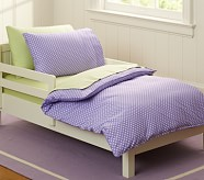 Min Dot Toddler Duvet Cover, Lavender