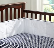Harper Elephant Crib Fitted Sheet, Navy