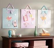 Pastel Magnet Board, Aqua Floral