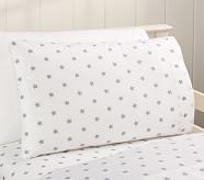 Star Toddler Pillowcase, Gray