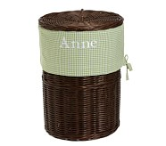 Green Gingham Sabrina Hamper Liner
