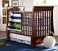 Alligator Madras Nursery Bedding Set: Crib Fitted Sheet, Toddler Quilt & Crib Skirt