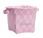 Printed Medium Canvas Storage , Light Pink