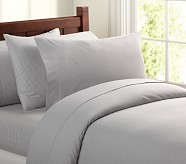 Chambray Duvet Cover, Full/Queen, Gray