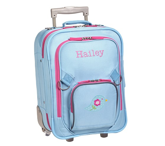 Fairfax Aqua/Pink Small Luggage, Bird