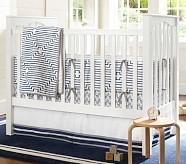 Preston Nursery Bedding Set: Toddler Quilt, Crib Skirt & Crib Fitted Sheet, Navy