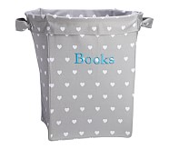 Heart Large Canvas Storage, Gray