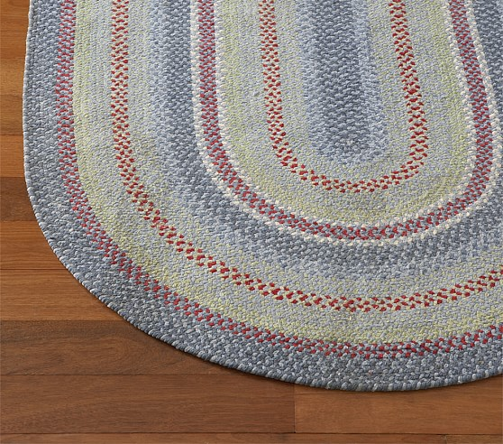 Primary Chenille Braided Rug Swatch