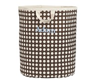 Dot Floor Tote, Large, Chocolate Dot