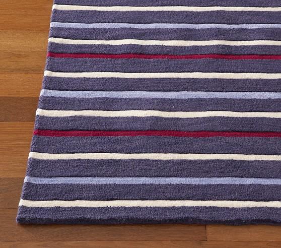 Navy/Red Sawyer Stripe Rug Swatch