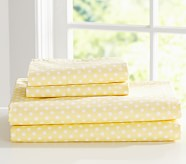 Mini Dot Standard Pillowcase, Yellow