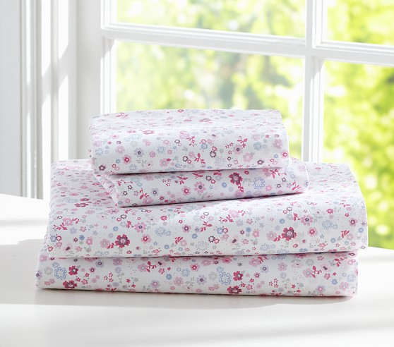 Ditsy Floral Sheet Set Pink Queen Pottery Barn Kids