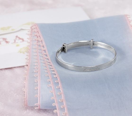 Silver Keepsake Baby Bracelet